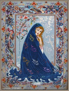 Pictorial Isfahan Rug