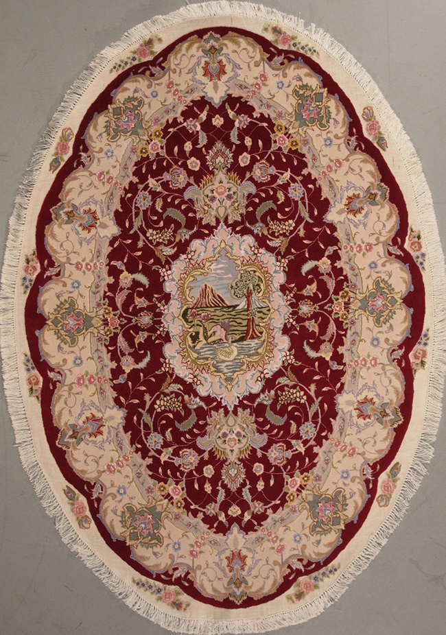 Tabriz Oval 4 5 X 6 7 444603 3 620 00 Rug Firm